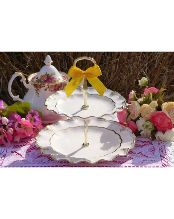 (OUT OF STOCK) ROYAL CROWN DERBY LOMBARDY CAKE STA...